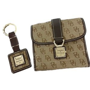 Dooney & Bourke- Matching wallet and key ring
